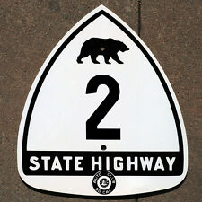 California ACSC bear route 2 highway road sign auto club AAA Los Angeles Crest