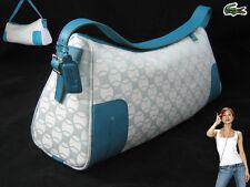LACOSTE SHOULDER BAG Baguette Chantaco Jaquard 13 PastelTurquoise