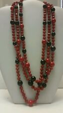 Gorgeous designer red and black agate beaded multi layer necklace