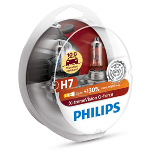 Philips X-Treme Vision G-Force H7 130% Extra Light Bulb Twin Pack NEW IN STOCK