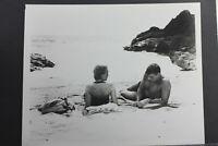 "8x10/"" Photo Print-Vintage L1212E Mark Damon with Woman on the Beach"