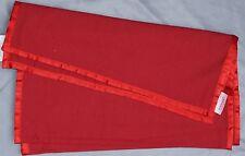 Tischläufer 40 X 160 Baumwolle M. Satin (rot)