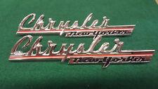 Chrysler 1947 New Yorker Side Emblem Stamped Set of 2