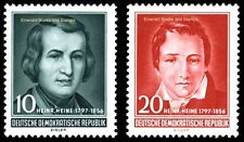 EBS East Germany DDR 1956 Heinrich Heine Anniversary Michel 516-517 MNH**