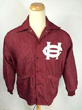 Vintage 70s Pla-Jac High School College Letterman Jacket Windbreaker M Usa