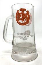 Texas Exes Longhorns College Football Centennial Nat'l Champs 1969 Glass Mug