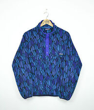 Patagonia Vintage Snap-T Fleece Pullover Jacket Leaf Blue Aztec Tribal SZ M