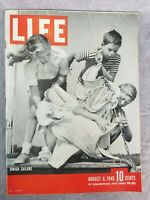 Life Magazine August 6 1945 Junior Sailor Cover with WW2 Print Ads