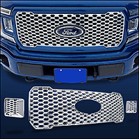 GI-161 GRILLE OVERLAY GRIL 18-20 F150 CHROME XL W/STX APPEARANCE PACKAGE
