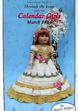 "Crochet March 1864 Calendar Girls  Pattern For 18"" Dolls  Annie Potter Presents"