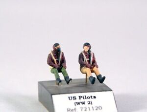 1/72 PJ PRODUCTION US PILOTS SEATED IN A/C (WWII)