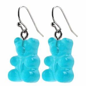 Gummy Bear Drop Dangle Earrings - Joe Cool Retro Sweets 5 Colours