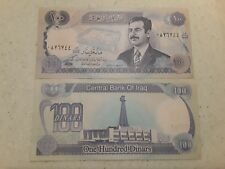 IRAQI IRAQ SADDAM 100 DINAR UNC NOTE -BUY FROM A USA SELLER !!!!