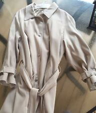 Liz Claiborne Trench Coat Tan Size 14 Womens c