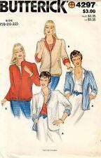 1980's VTG Butterick Misses' Reversible Jackets Pattern 4297 Size 18-22 UNCUT