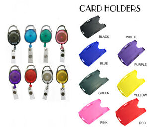 Premier Retractable YOYO Badge Reel with Matching ID Card Holder - DOUBLE SIDED