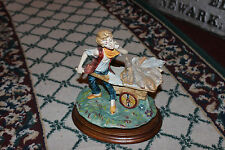 Superb Capodimonte N Stile Italy Figure Boy Carrying Fish To Market-Detailed