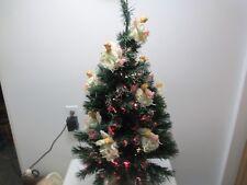 "Puleo 36"" Fiber Optic Christmas Tree with Fiber Optic Angels w Base"