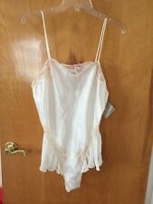 Women's Vintage Ivory & Peach BLANCHE Lingerie Silky Lace Size L NWT BEAUTIFUL