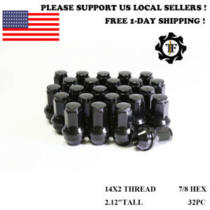 24PCS or 32PCS | 14X2 | FORD OEM SOLID STEEL BLACK LUG NUTS FOR F-150/250/350