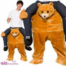 Adult Carry Me Teddy Bear Ladies Fancy Dress Mens Mascot Costume Charity Run