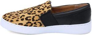 Vionic Demetra Women's Leopard Tan Leather with Rubber Sole Slip-On Shoes US 5 M