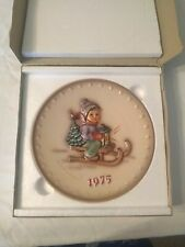 Ride Into Christmas - Boxed Hummel Annual Plate-Goebel 1975