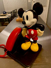 Mickey Mouse Push Button Telephone Walt Disney Great Condition - Used - Vintaged