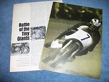 """1966 Isle of Man Vintage Motorcycle Race Info Article """"Battle of the Tiny Giants"""