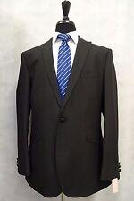 Men's Scott By The Label Black Striped Suit 40R W32 L31 CC5986
