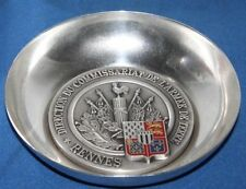 More details for vintage silver plate medal bowl, french renne army - free postage [pl1453]