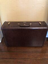 Vintage Samsonite Suitcase Luggage Leather Alligator 4121 Fantastic condition