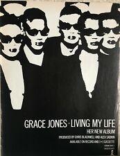 More details for grace jones original full page advert album living my life the face 1982 9x12