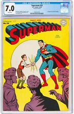 Superman #33 CGC 7.0 DC 1945 3rd Mxyztplk! White Pages! Key Golden JLA K10 1 cm