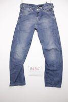 Levis engineered 0004 accorciato jeans usato (Cod.U636) Tg.43 W29 L34 uomo
