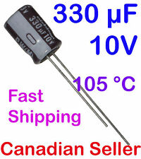 5pcs 330uF 10V 8x11.5mm 105C Nichicon PW For PC TV AUDIO VIDEO TFT ACL LCD DVD