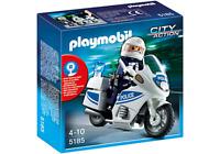 Playmobil  5185 MOTO DE POLICIA - POLICE MOTOR BIKE   DESCATALOGADO