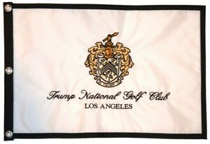 TRUMP NATIONAL GOLF CLUB - LOS ANGELES Embroidered GOLF Pin FLAG