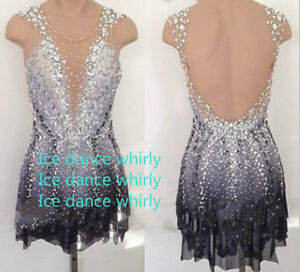 A169 figure skating competition dresses women custom girls ice skating dress