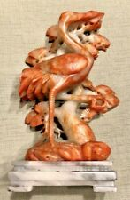 EXQUISITE CHINESE SHOUSHAN STONE HAND CARVED STATUE -MAN /& MOUNTAIN HA03