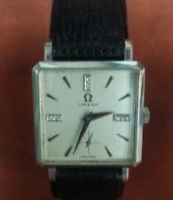 1970s OMEGA 14k White Gold Case Men's Dress Watch 17J Original Crown & Buckle