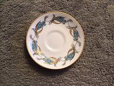 More details for rare vintage  royal grafton bluebells gilded saucer 1957 kendal