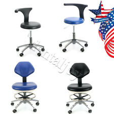 Dental Doctor Assistant Stool Adjustable Height Mobile Chair 360rotation Pu