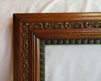 "ANTIQUE FIT 20""x 24"" OAK WOODEN PICTURE FRAME FINE ART ORNATE ENGLISH VICTORIAN"