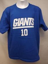 Nuevo-defecto menor-Eli Manning  10 New York Giants juventud tamaño grande  Camisa Azul cc09013fac946