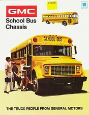 1972 GMC School Bus Chassis 8-Page Dealer Sales Brochure
