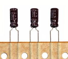 100pc Electrolytic Capacitor KY 22uF 50V +105℃ 5000hr Nippon Chemi-Con 5x11mm