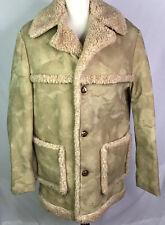 Fingerhut Fashions Coat Sherpa Faux Lined Heavy Tan Unisex Vintage Size 38 (M)