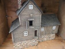O Scale Old Grist Mill with Waterwheel Vintage Hancrafted