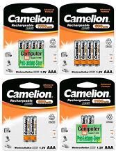 Camelion AAA Micro Akkus Accus HR03 600 mAh 1100 mAh NiMH aufladbare Batterien ✅